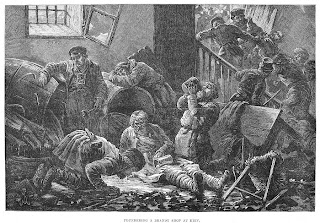 Granger 1881 Pogrom in Russia etching Jews bar