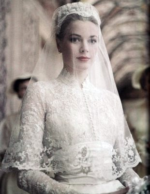grace kelly wedding hair. pictures grace kelly wedding