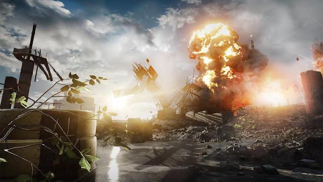 Screenshot of Battlefield 4 sent by EA DICE showing next-gen console graphics