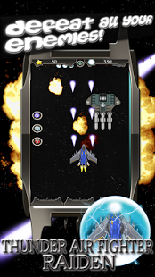 Screenshots of the Thunder Air Fighter Raiden for Android tablet, phone.