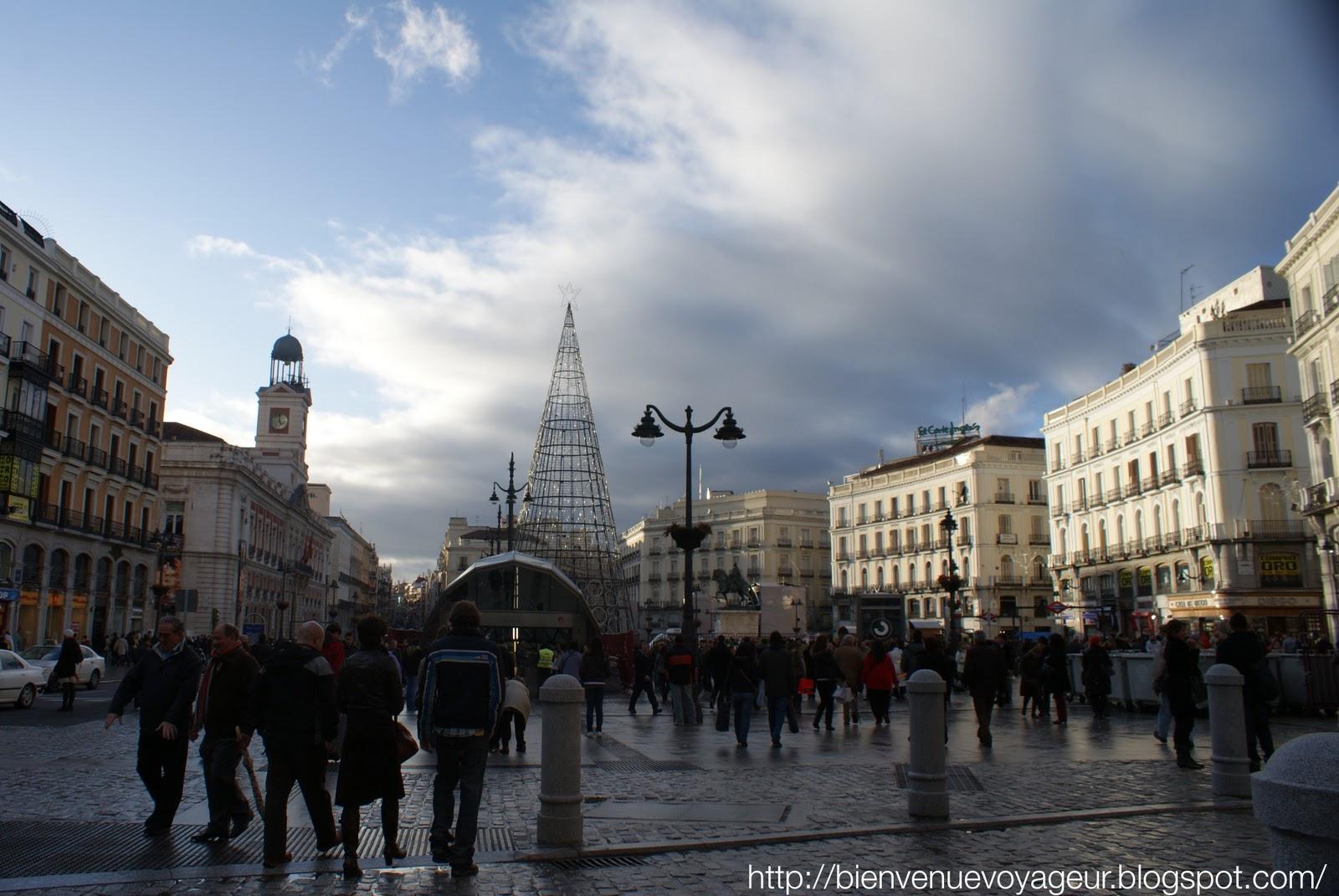 Bienvenue voyageur fin de a o en la puerta del sol madrid for Puerta del sol 9 madrid