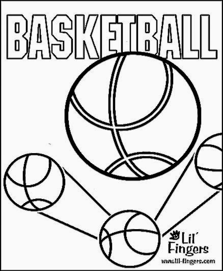 Basketball Coloring Sheet