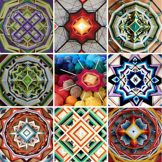 wool mandalas - tutorial