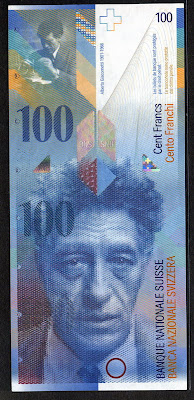 Switzerland 100 Swiss Francs banknotes image