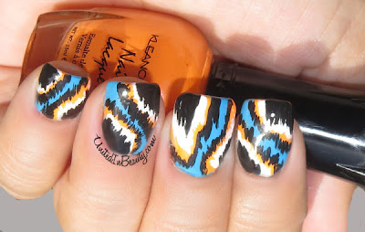 Ikat nail art design
