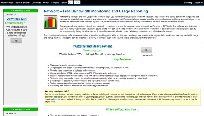 NetWorx, Bandwidth Monitor