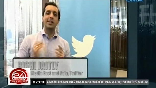 Rishi Jaitly, Twitter, vice president for Asia Pacific and Middle East