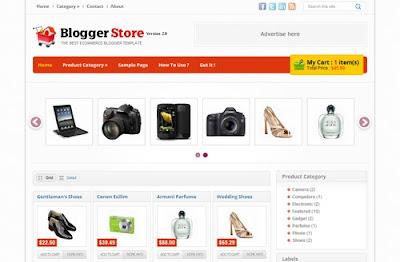 Plantilla para Blogger: BloggerStore