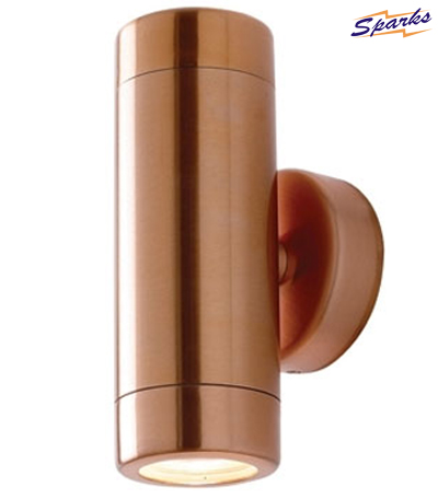 Copper Up-and-Down Outdoor Wall Spotlight