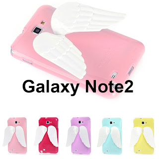 ANGELA Wing Jelly Case for Galaxy Note2 - Angel wings / Easy hand holder cover