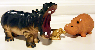hippo ornaments