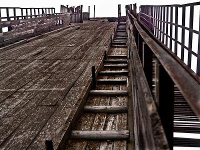 Rampa de saltos de esquí abandonada Ski jumping ramp abandoned