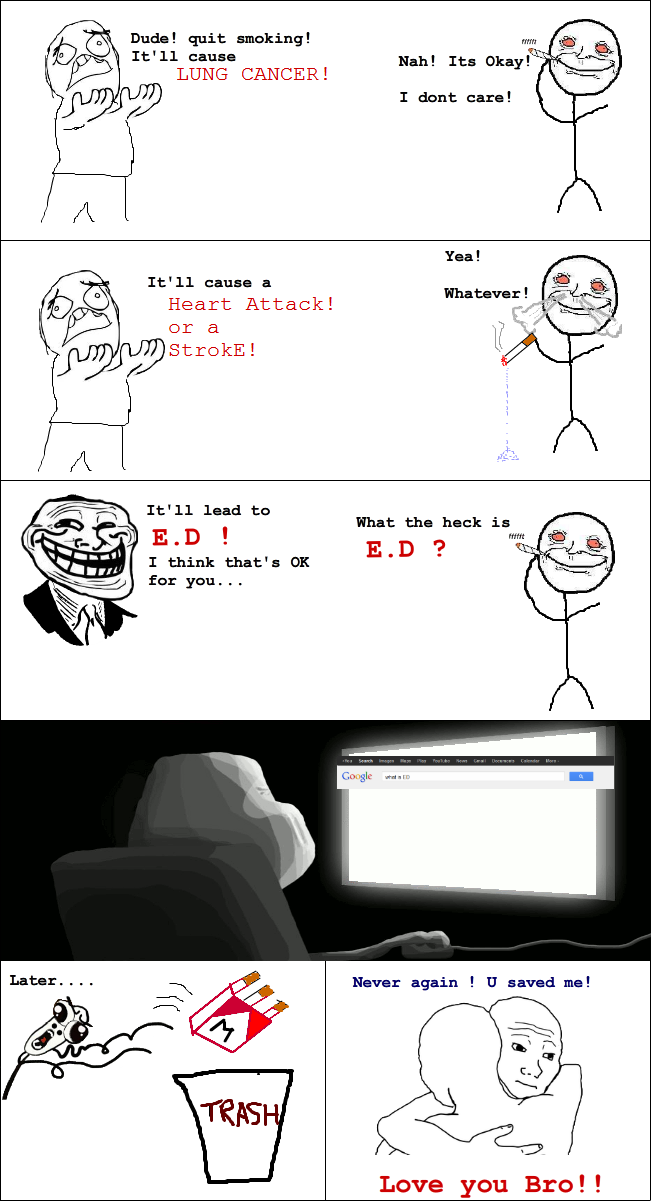Rage Comic : Quit Smoking Troll