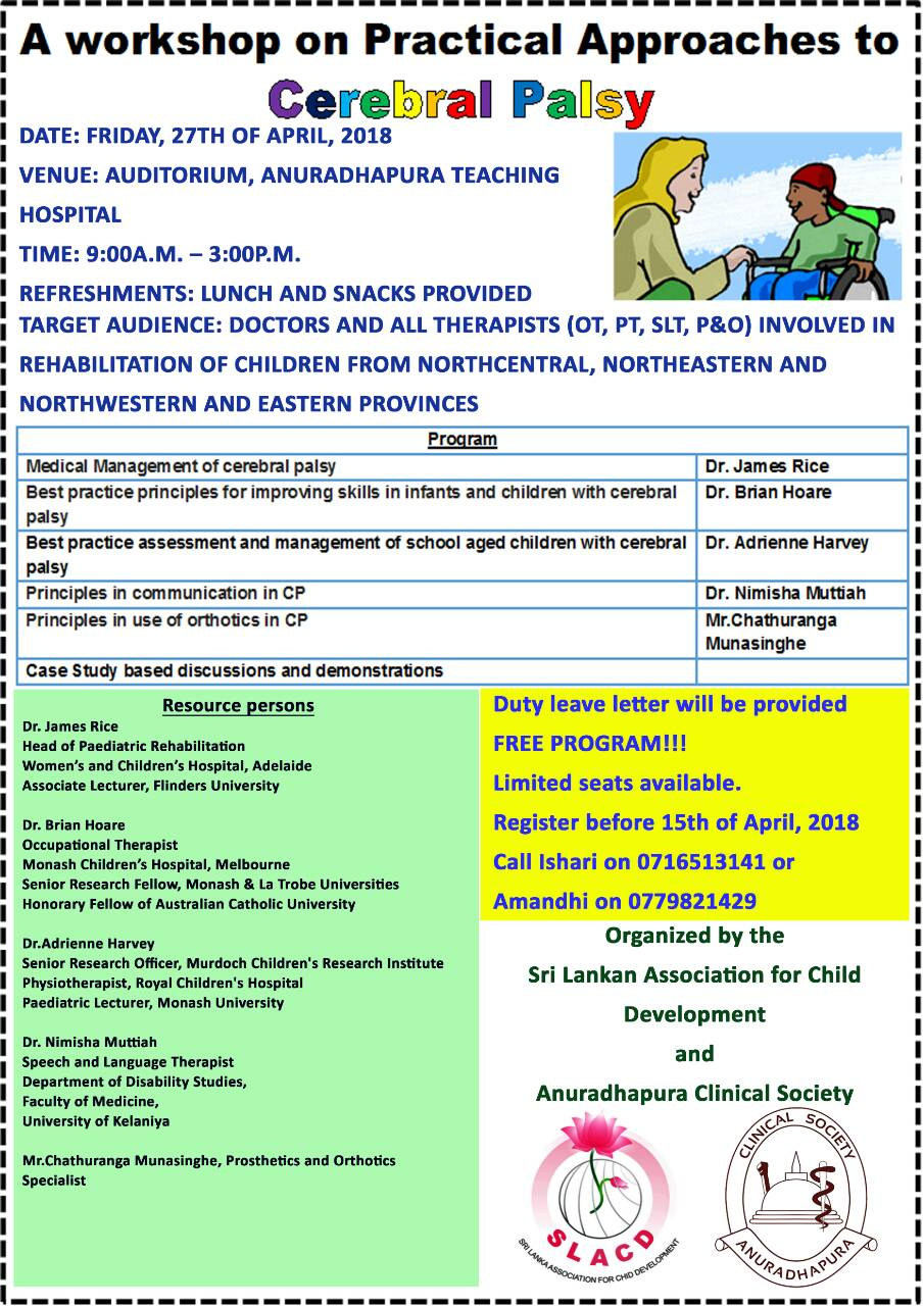 Workshop on Practical Approaches to Cerebral Palsy