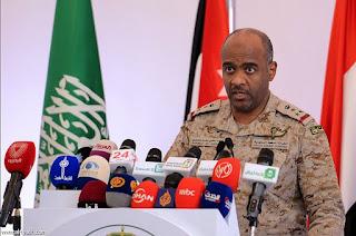 المتحدث الرسمي باسم التحالف يدلي تصريح جديد رداً على خرث الهدنة من قبل جماعة الحوثي وصالح