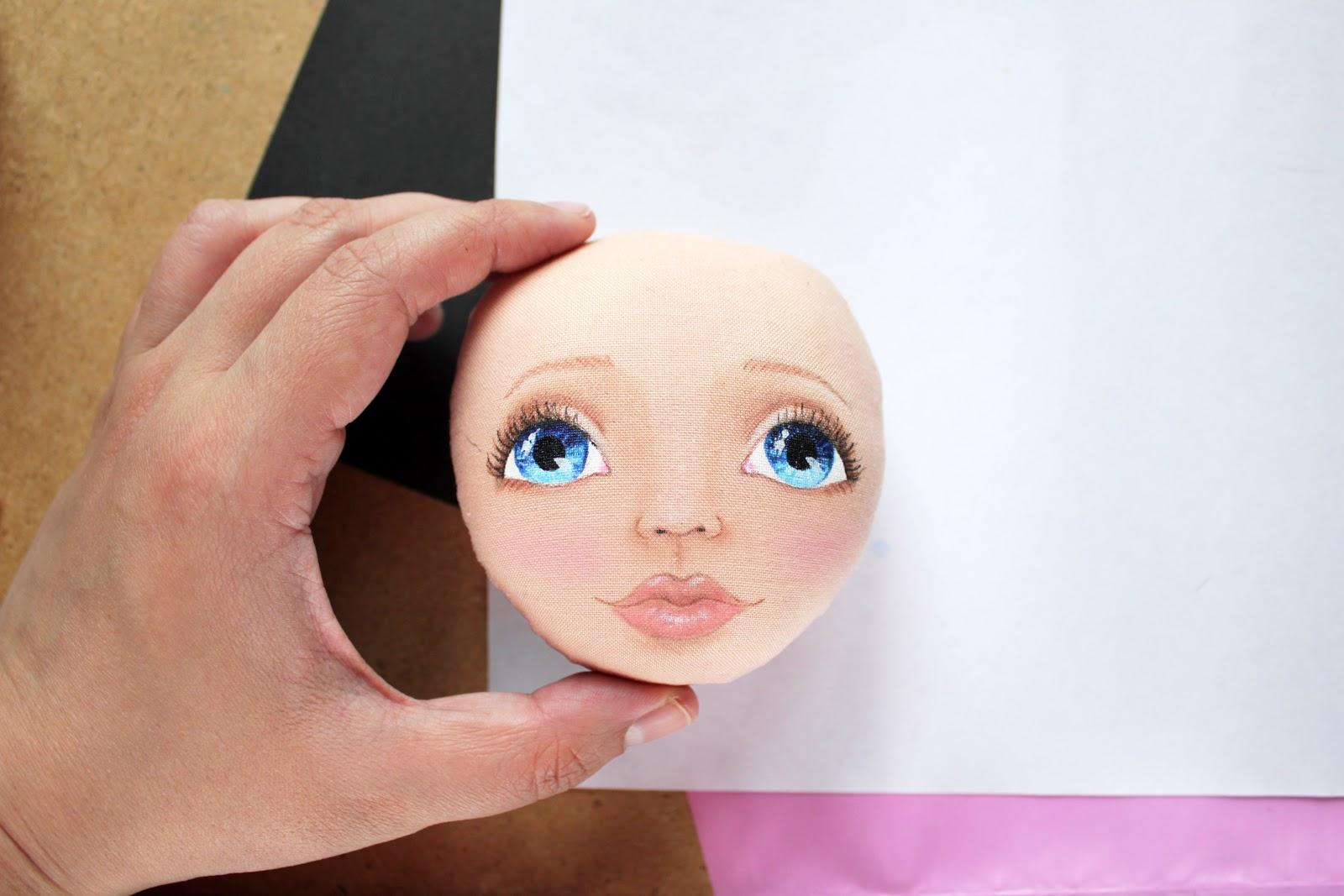 Как нарисовать кукле лицо своими руками 182
