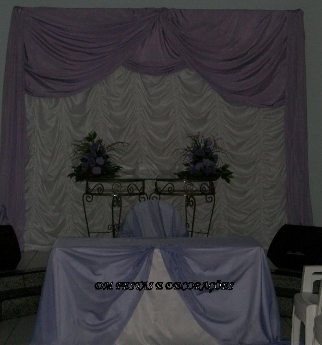 decoracao branco e lilas para casamento:Dm festas e decorações: Decoração de casamento lilás c/ branco