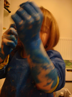Blue paint