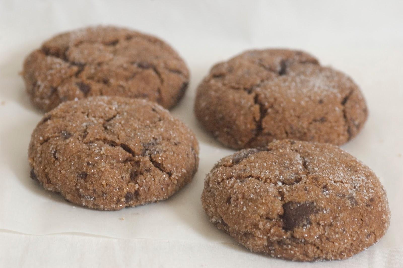 עוגיות שוקולד, אגסים וגינג'ר