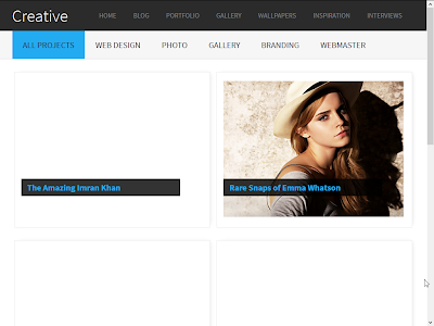 Creative Gallery Blogger Template