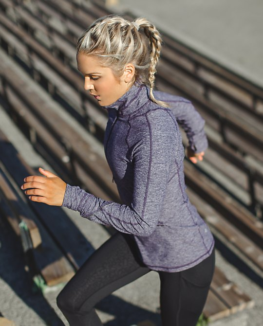 lululemon black grape race your pace half zip
