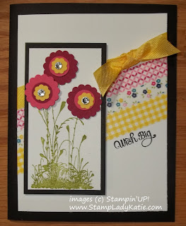 Card made with Stampin'UP! Washi Tape and Serene Silhouettes Stamp Set