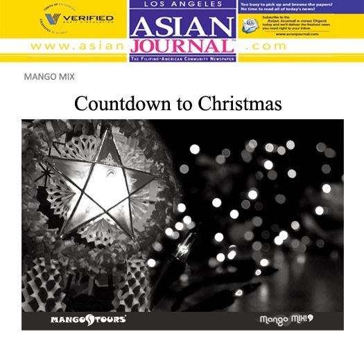 Mango Mix Countdown to Christmas Parol