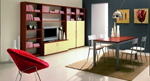 Muebles de colores para la decoraci n de una sala de estar for Muebles para sala de estar modernas