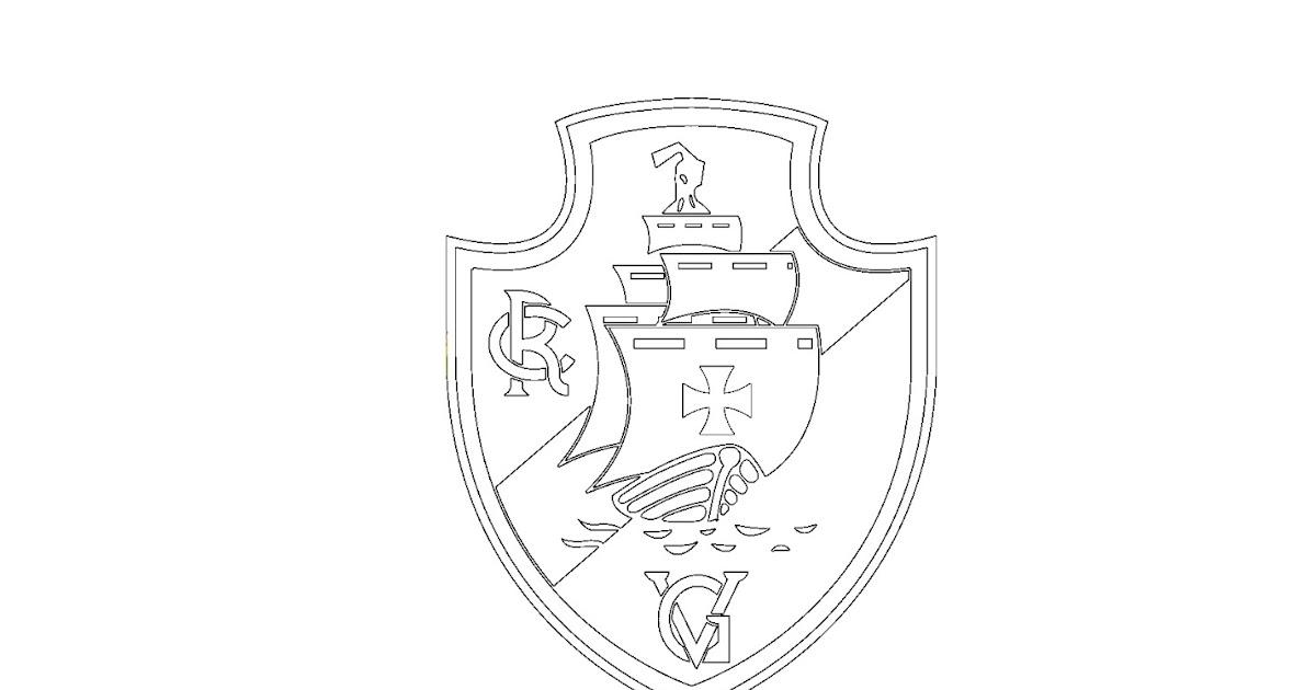 colorindo com a dry desenho de escudo de time de futebol do vasco
