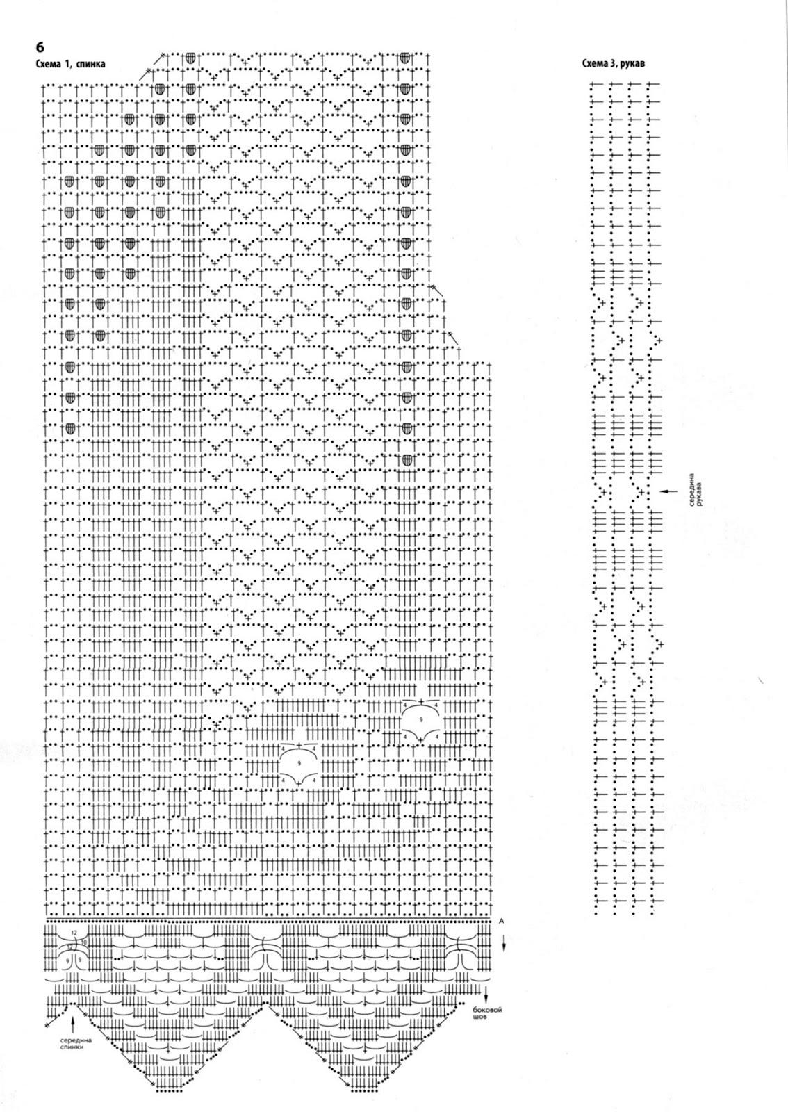 Филейное вязание крючком кофточки с описанием и схемой