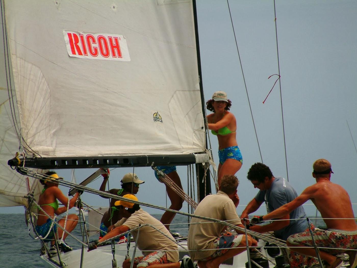 Yacht racing photography Crew on Deck