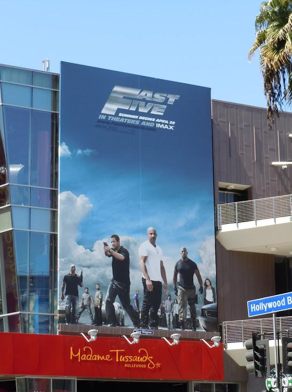 Fast Five movie billboard