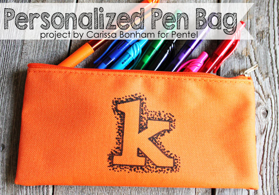 Personalized school supplies tutorial