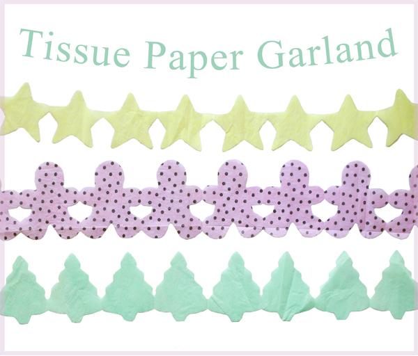 zakka life diy tissue paper garland. Black Bedroom Furniture Sets. Home Design Ideas