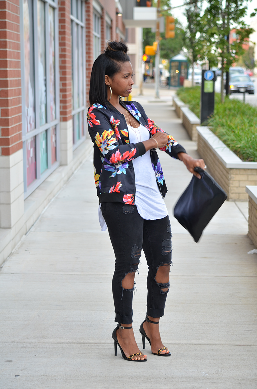 Black Jeans + Outerwear Bomber | Sweenee Style