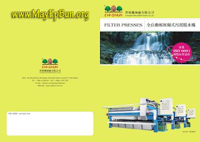 Hình ảnh bìa catalogue máy ép bùn khung bản Chishun - Đài Loan