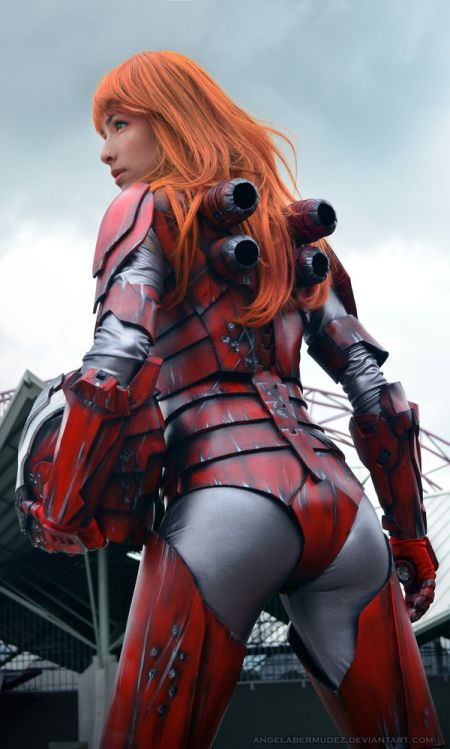 Angela Bermúdez deviantart incríveis cosplays filmes games linda nerd Pepper Potts in iron suit (Iron Man 3)