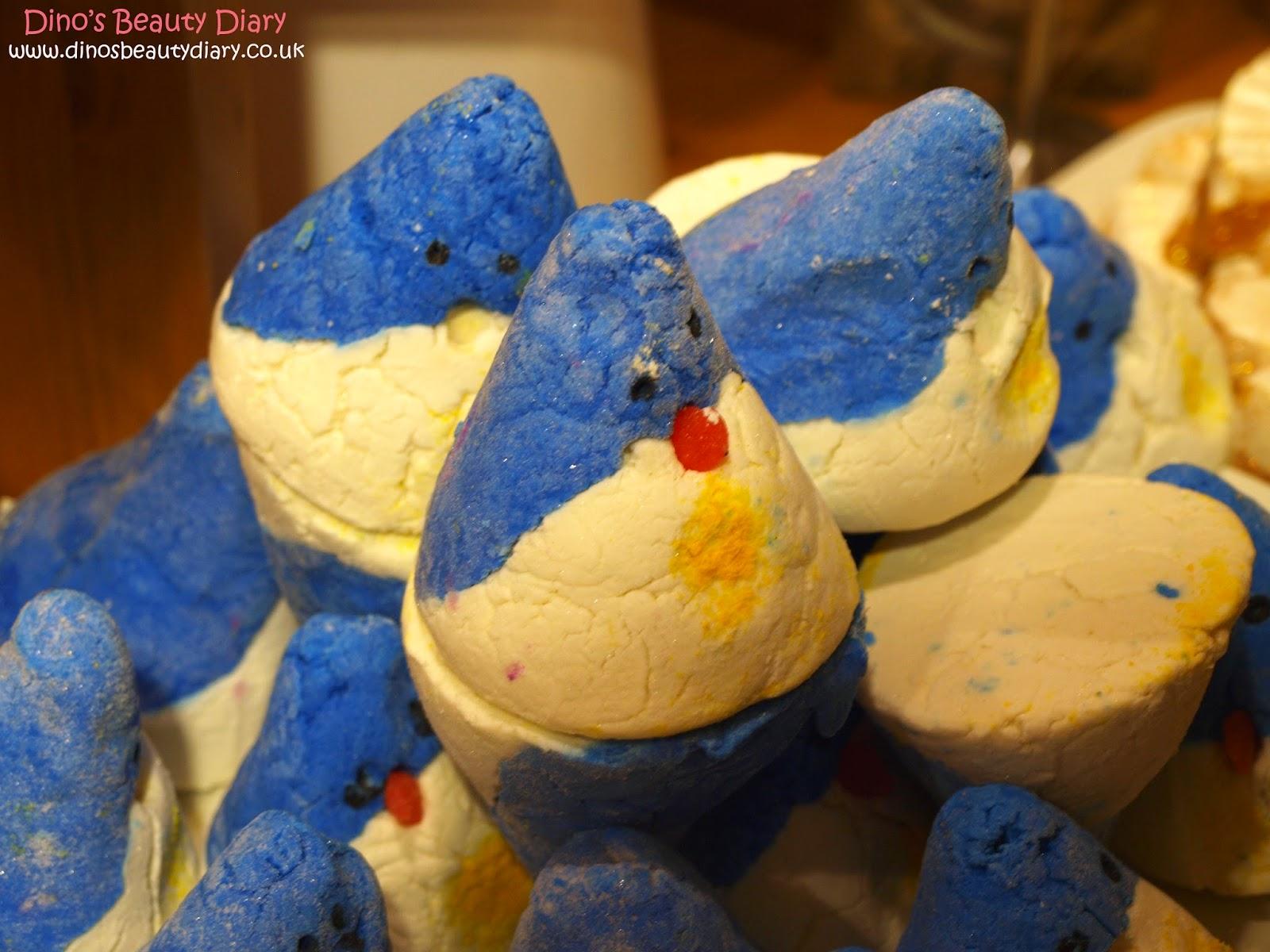 Dino's Beauty Diary - Lush Nottingham Bloggers Event - christmas penguin bubble bars