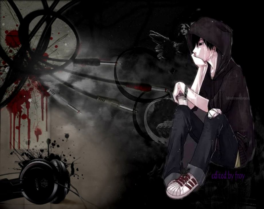 anime emo sad boy free high definition wallpapers
