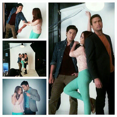 Sam Milby, Paulo Avelino and Angeline Quinto Kahit Konting Pagtingin pictorial