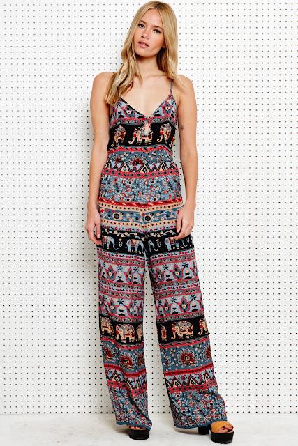 elephant print jumpsuit