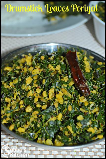 Murungai Keerai (Drumstick Leaves) Poriyal