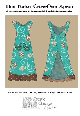 !!!NEW!!! Hen Pocket Cross-over Apron Pattern