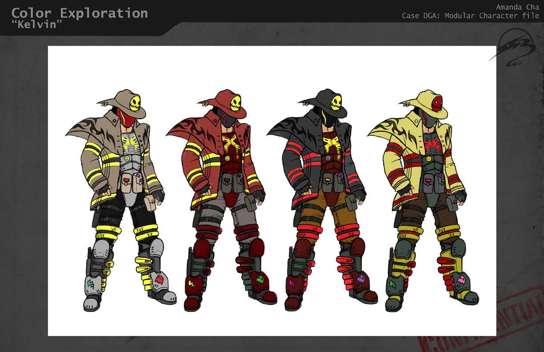 Character Design Color Scheme : Gameshrimp process log modular character