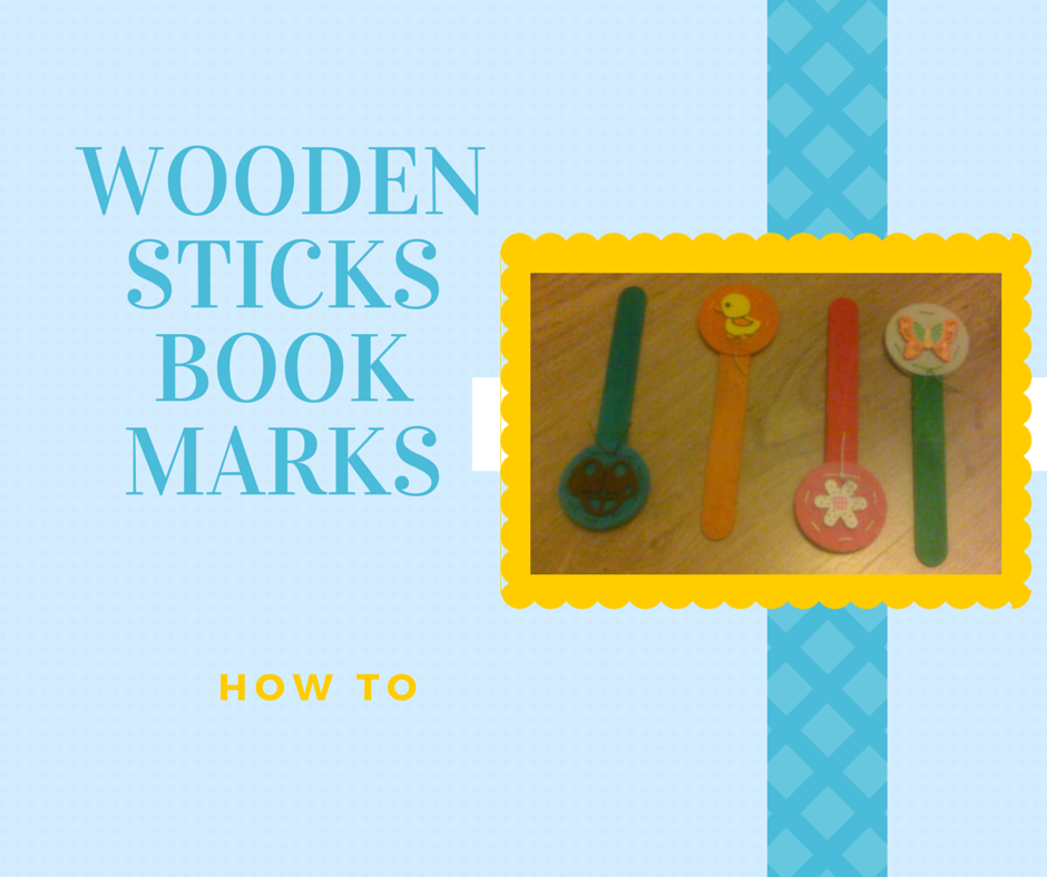 wooden sticks bookmarks, handmade bookmarks, homemade gifts
