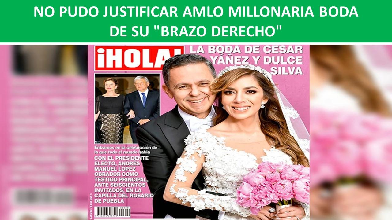 """MILLONARIA BODA DE SU """"BRAZO DERECHO"""""""