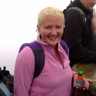 Smiling at the top of Mount Snowdon