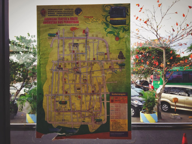 Transjogja busstop- transjogja map and route