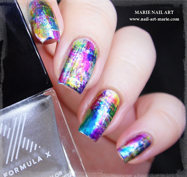 nail art dry brush infinite ombré4