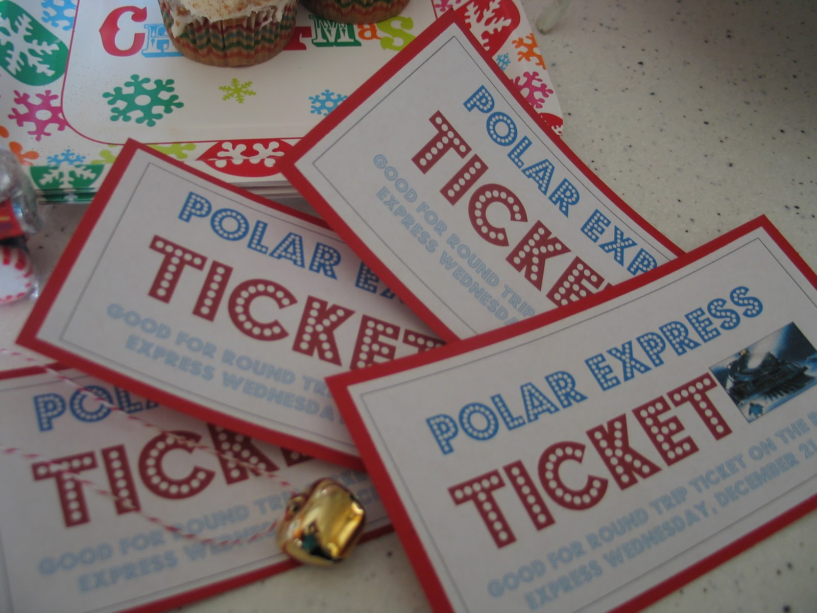 Polar Express Ticket Only jammies and tickets